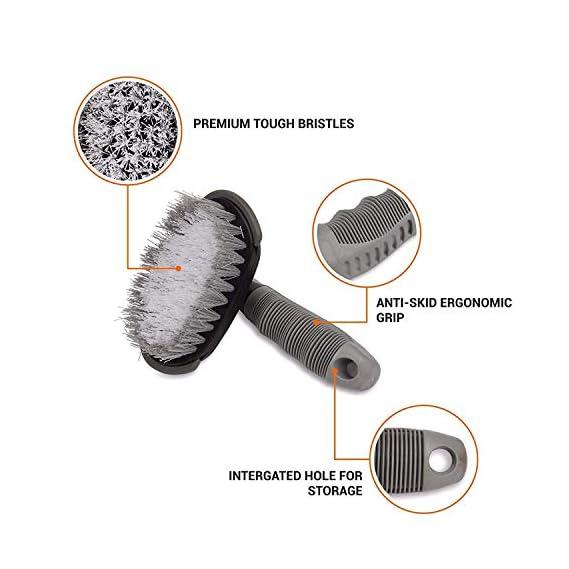 Motoway Bike Tyre Rim Cleaner Brush for Bike & Scooter Pack of 1