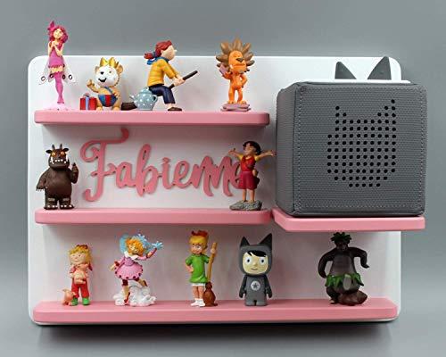 zum Aufh/ängen wei/ß rosa magnetisch tolle Geschenkidee zum Spielen und Sammeln Kinder Regal f/ür Toniebox Musikbox Geeignet f/ür Tonie Tonies /® als Geschenk Wunschname Name