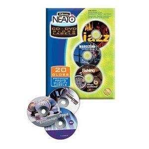 FEL99943 - Fellowes NEATO CD/DVD Laser/Inkjet Labels - Fellowes Cd Labels