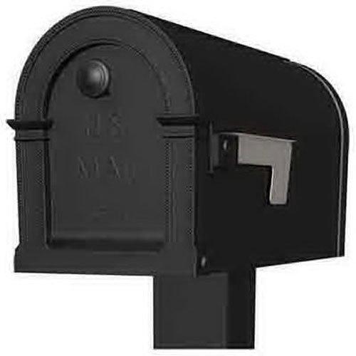 Gibraltar Mailboxes Lincoln Medium Capacity Rust-Proof Plastic Black, Post-Mount Mailbox, PM000B01