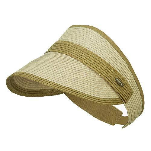 Toyo Braid Belt Buckle Visor - Natural Sage - Braid Wide Toyo Hat