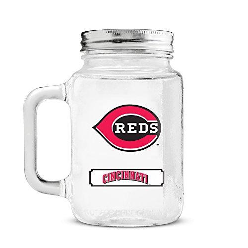 - MLB Cincinnati Reds 20oz Glass Mason Jar