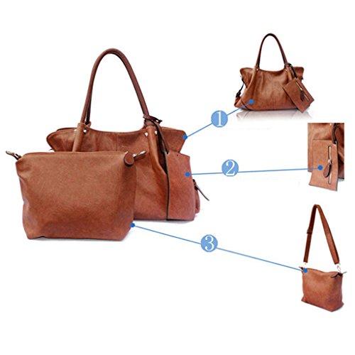 Cross Women Fashion Tote blue 39 Handbag Shoulder Pu 28cm Pieces 3 Body Faux Purse Bag 15 Leather r4rdYHwq