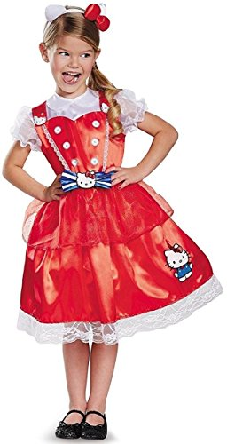 Authentic Deluxe Hello Kitty Sanrio Costume, (Hello Kitty Girls Costume)