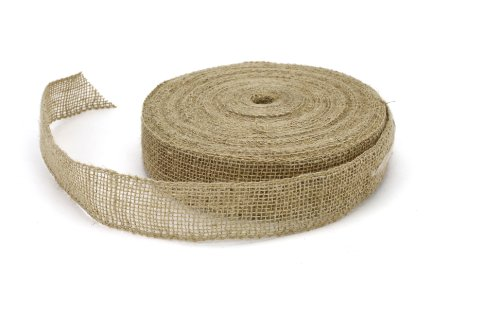 Kel-Toy Wired Burlap Ribbon Bulk Roll, 1.5-Inch by