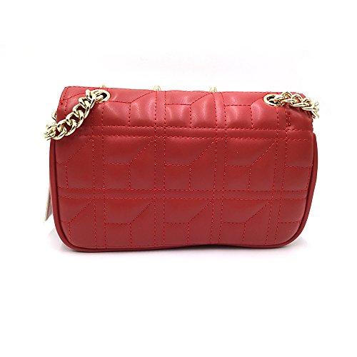 Sheli Bolso Mujer Cuero Moda Marca Bolso Bandolera Quilted Bags for Women Rojo