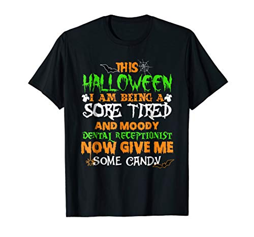 Dental Receptionist Halloween Shirt Funny Pumpkin Shirt For -