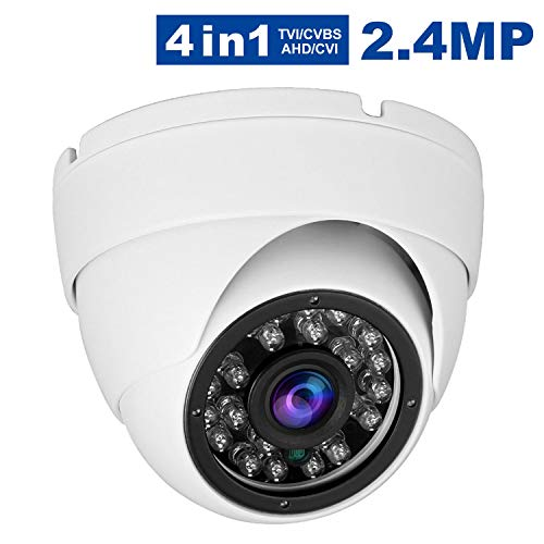 Anpvees CCTV Dome ecurity Camera,HD 1080P 4-in-1 (TVI/AHD/CVI/960H CVBS) Analog Security Camera,Aluminum Housing 3.6mm Lens, Day & Night Monitoring IP66
