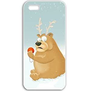 Apple iPhone 5 5S Cases Customized Gifts For Holidays New Year Holidays New Year New Bear 19158 White