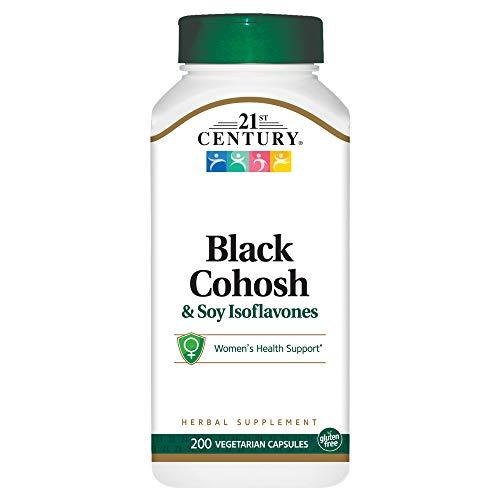 21st Century Black Cohosh and Soy Isoflavones Veg Capsules, 200 ()