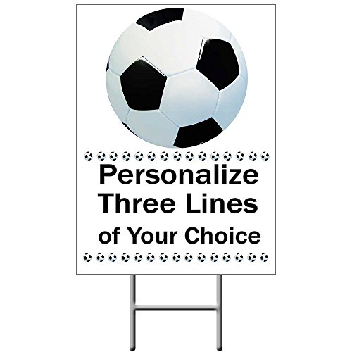 Soccer Yard Sign (Each) - Customized by Partypro