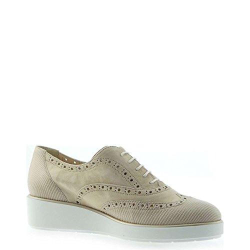 de sable Les R2735 Corde zeppetta MELLUSO pointe chaussures femme Francesina wCqIxdt