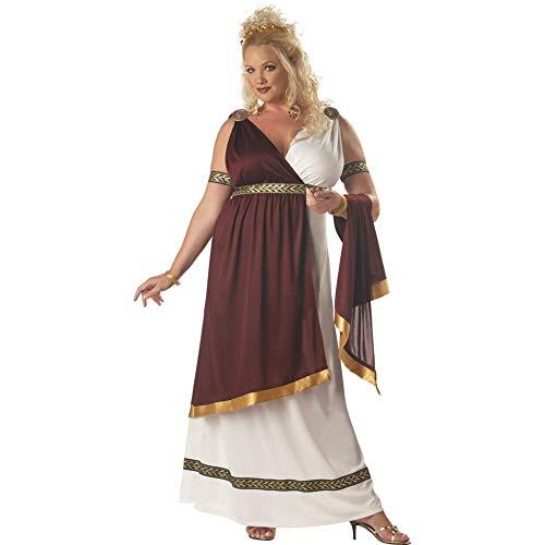 Roman Empress Plus Size Costume White/Red