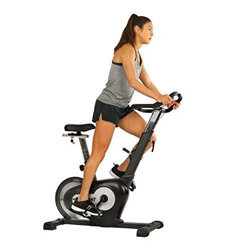 EFITMENT Rear Drive Magnetic Indoor Exercise Bike with LCD Monitor, 242 LB Max Weight and Tablet Holder- B015 EFITMENT