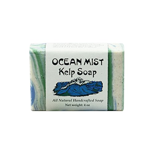 MoonDance Soaps & More Ocean Mist Kelp Soap - Handmade Soap with Coconut, Olive and Palm Oils, Cocoa and Shea Butters, Kelp, Bergamot and Lemongrass Essential Oils (One Bar)