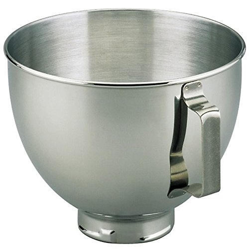 KitchenAid K45SBWH 4.5 Qt SS Mixer Bowl with Handle (Renewed)