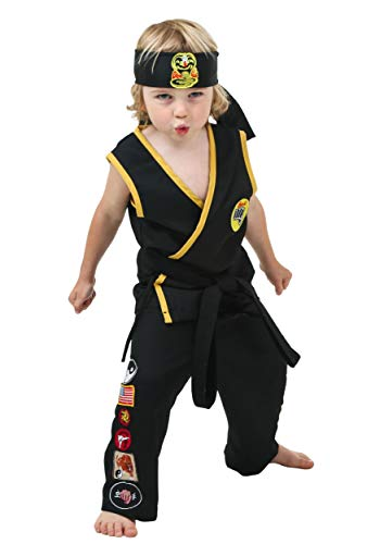 Toddler Cobra Kai Costume - 4T Black