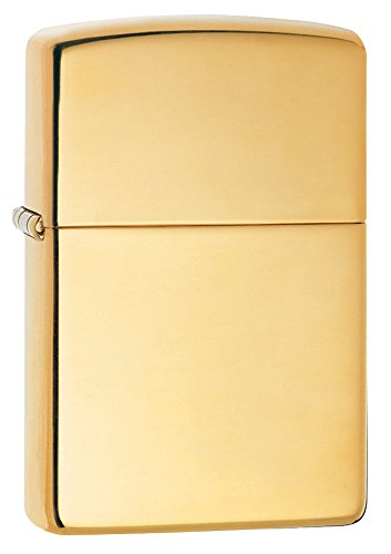 Zippo High Polish Brass Pocket (Gold Lighter)