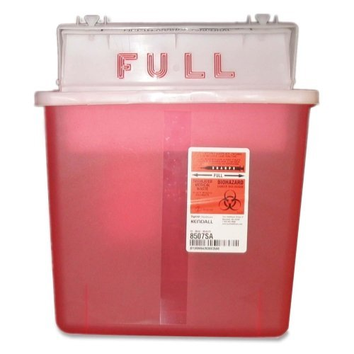Sharpstar Lid - Sharpstar Container,w Counter Balanced Lid, 5 Quart, Red by Unimed-Midwest, Inc.