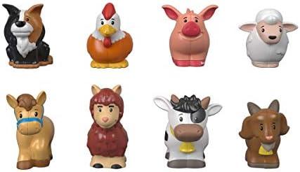 Fisher-Price Little People-Pack de 8 Figuras animalitos de la Granja, Juguetes bebés +1 año, Multicolor (Mattel GFL21)