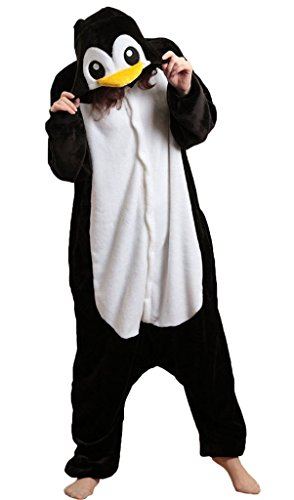 iNewbetter Penguin Cartoon Animal Pajamas Cosplay Party Anime Costume Adult Sleepwear M
