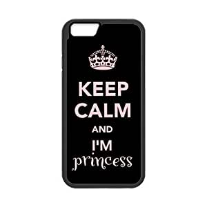 Keep Calm Series Keep Calm and I'm PrincessFunny Special Custom Case Cover For SamSung Galaxy S5 (Black) with Best Silicon Hard