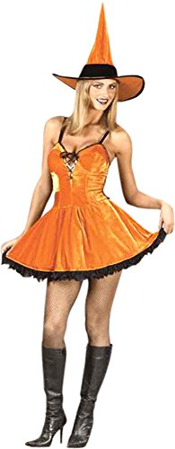Spook Shop Sexy Pumpkin Witch Costume Size: Women's Small 2-8 ()