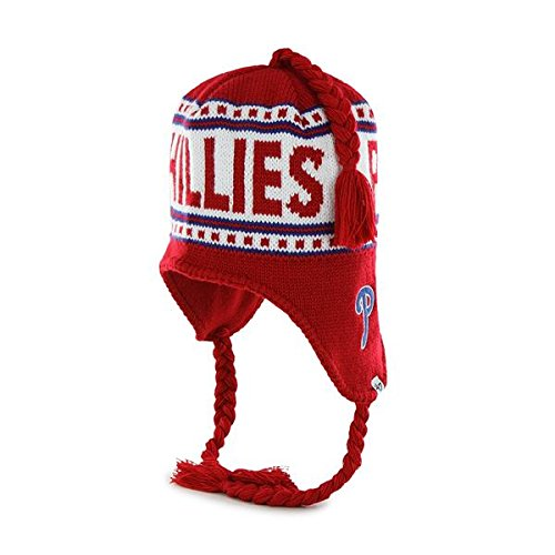 '47 Brand Montreux 折り返しなしビーニー帽 編みタッセル付き - NFLかぎ針編みニットトークスカルキャップ フィラデルフィアフィリーズ  B00LMDWB6U