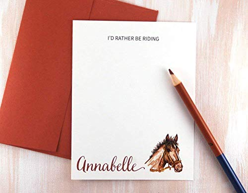 Stationery Horse (Horse Gifts for Girls, Personalized Stationery Set of 12, Equestrian Gifts, Horse Lover Gift)