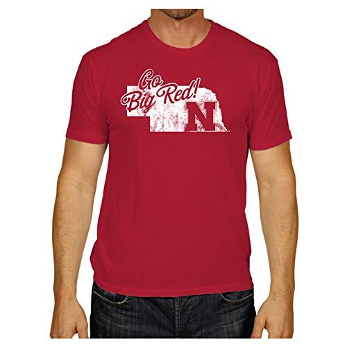 Elite Fan Shop Nebraska Cornhuskers Tshirt Red Vintage - XL