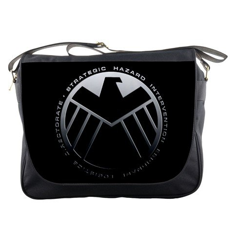 Agent Laptop Bag (Marvel Agents Of SHIELD Television Series The Avengers Messenger Bag School Textbook Macbook Ipad Laptop Computer Sling Cross Body Bags)