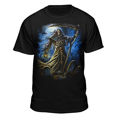 Teelocity Grim Reaper Night Time Graveyard Scene in