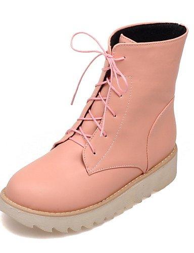 Zapatos Eu42 Punta amarillo us10 Uk6 Cn43 5 Y Anfibias Semicuero Trabajo Beige us8 Pink Casual Botas 5 Eu39 Uk8 De Vestido Cn39 Oficina Plataforma Uk Xzz Mujer Redonda UwdYU6