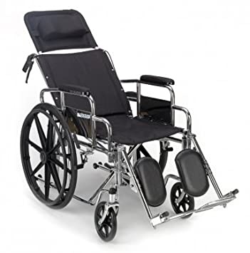 Wondrous Amazon Com Fully Reclining Wheelchair Mmc 300 Health Bralicious Painted Fabric Chair Ideas Braliciousco