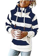 Darringls Trui met capuchon voor dames, sweatshirt met lange mouwen, casual bovenstuk, modieus, sexy, oversized, blouse, tuniek, vrouwen, herfst en winter, elegant sweatjack, mantel