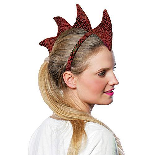 Adult Dragon Headband Costume Accessory, Red