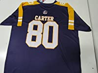 Minnesota Vikings Mens 2XL Cris Carter #80 Hall of Fame Jersey AVIK 100 2X