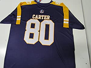Minnesota Vikings Mens 6XL Cris Carter #80 Hall of Fame Jersey AVIK 104 6X Ham Amz 1064 Q1