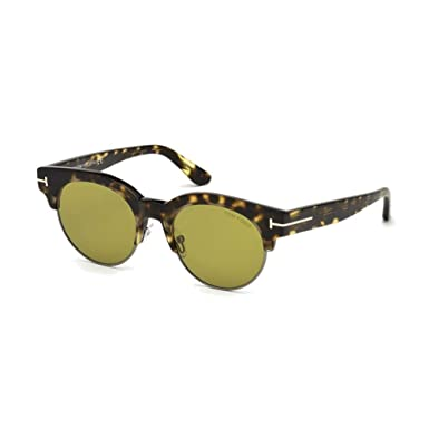 6cef2bdb7aa Image Unavailable. Image not available for. Color  2018 Tom Ford Henri-02  TF0598 Men Tortoise Brown Round Glass Lenses Sunglasses