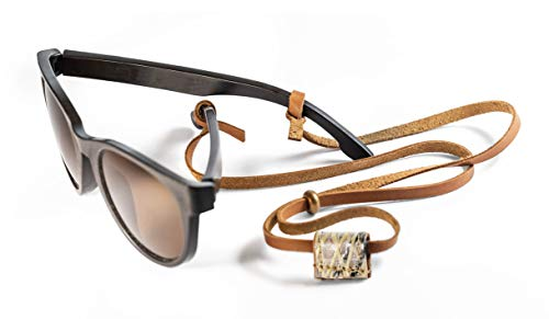 Sunglass Strap, Eyewear holder, Eyeglass Retainer. Handmade, sailing gift leather & ()