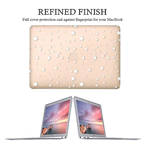 iLeadon MacBook Air 13 Inch Case 2020 2019 2018 Release A2337 M1 A2179 A1932, Plastic Hard Shell Protective Case for Apple Newest MacBook Air 13 Inch with Retina Display fits Touch ID, Stars