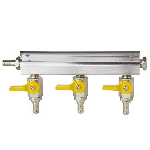 - Kegco AD3 Aluminum 3-Way Kegerator Beer Gas/Air Distributor