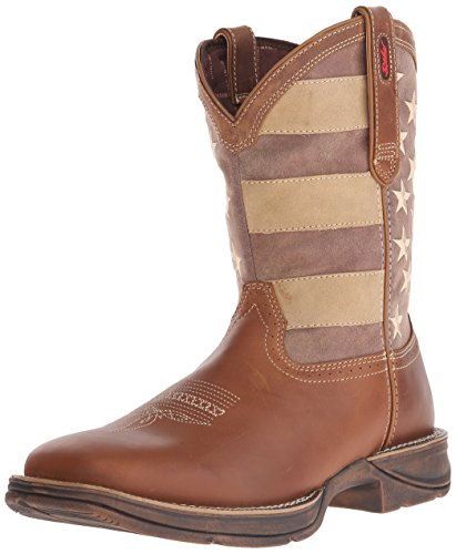 Durango Men's DDB0078 Boot, brown/faded union flag, 12 W US
