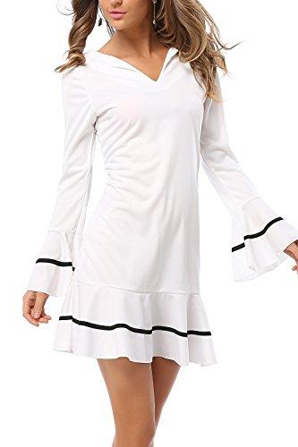Contrato de mujer manga larga de Color una línea de vestido de fiesta