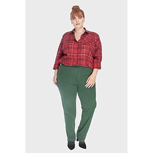 Calça Moletom Color Plus Size Verde-50