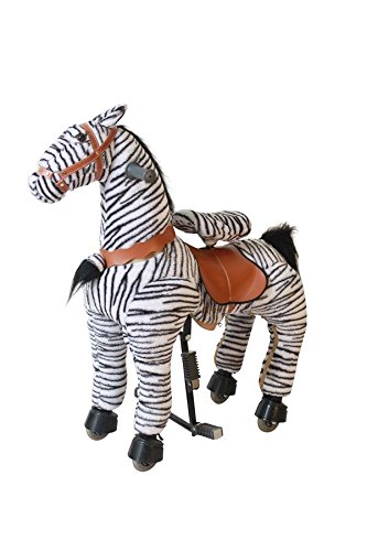 Nuevo bebé niño niños adolescentes cebra caballo Clip Clop Pony – Caballo con modo balancín o