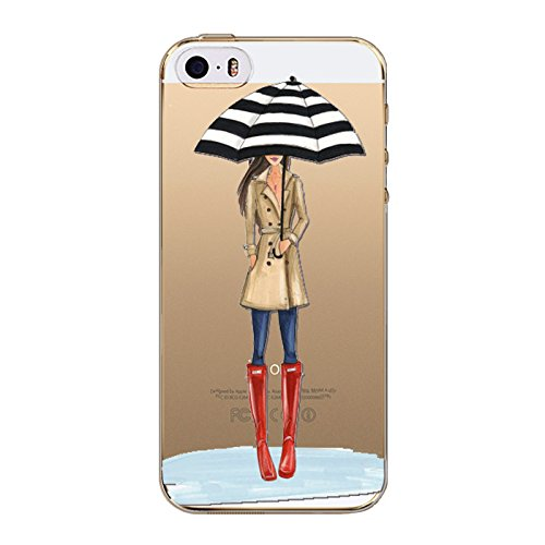 iPhone 8 / 7 Compatible, City Girl Loves Dress Heels Model Ultra Slim Case Bumper Cover (Red Boots) ()