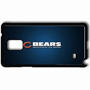 Personalized Samsung Note 4 Cell phone Case/Cover Skin 1660 chicago bears Black hjbrhga1544