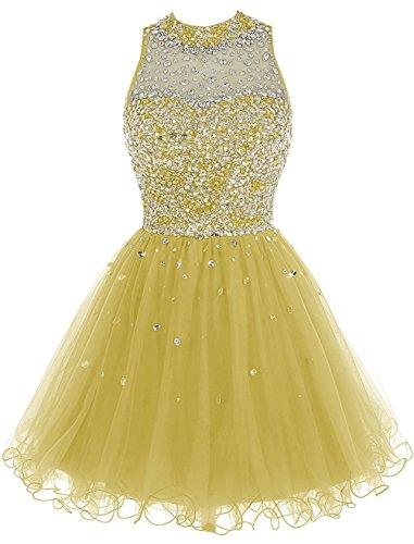Gowns Luxury for Beaded Juniors Kleider Yellow Heimkehr 2016 Fanciest Kurz Damen Abendkleider pfvpZ