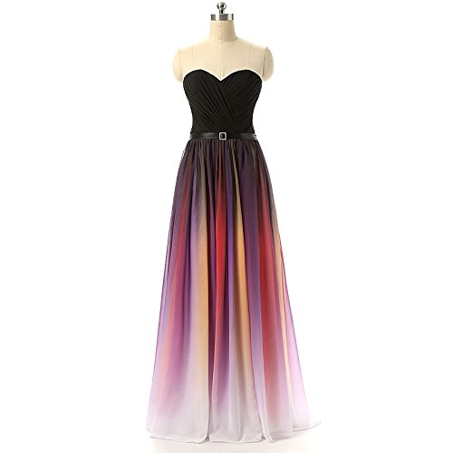 HTYS 2016 Gradient Color Prom Evening Dress Beaded Ball Gown HY044